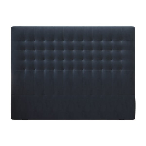 Tăblie pat cu înveliș de catifea Windsor & Co Sofas Apollo, 200x120cm, albastru închis