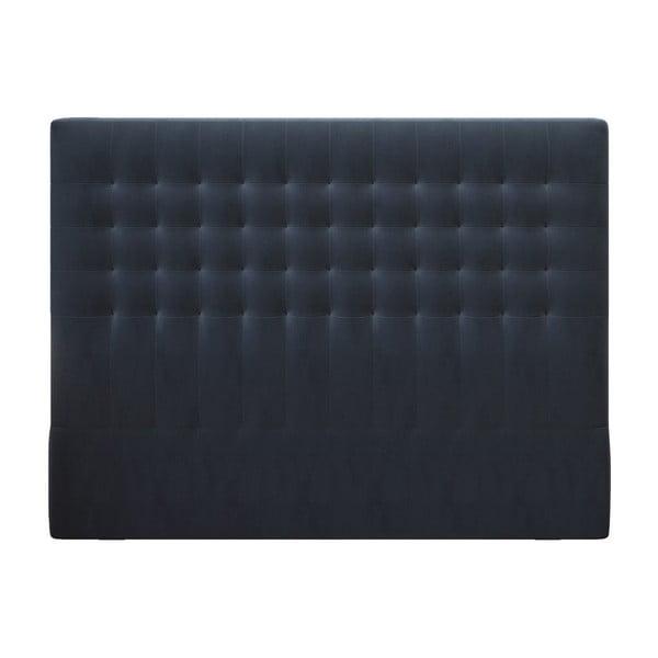 Tmavě modré čelo postele se sametovým potahem Windsor & Co Sofas Apollo, 200x120cm
