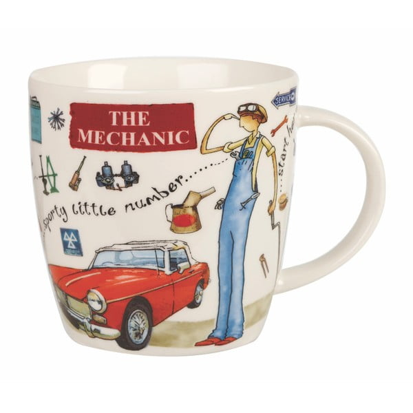 Kubek z porcelany Churchill China At Your Leisure The Mechanic, 400 ml
