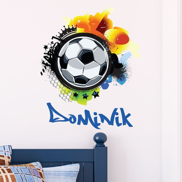 Autocolant de perete cu nume Ambiance Football Graffitti