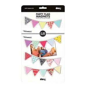Magnetické party vlaječky, 40 ks
