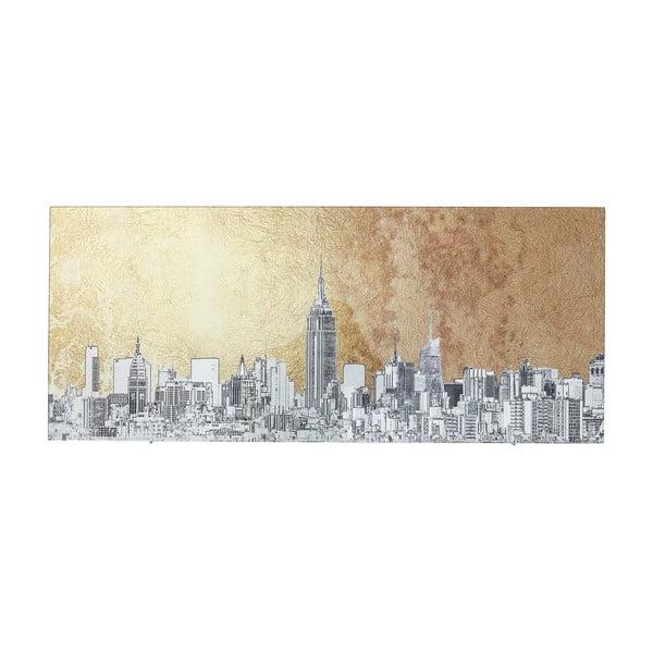 Zasklený obraz Kare Design NY View, 120 x 50 cm