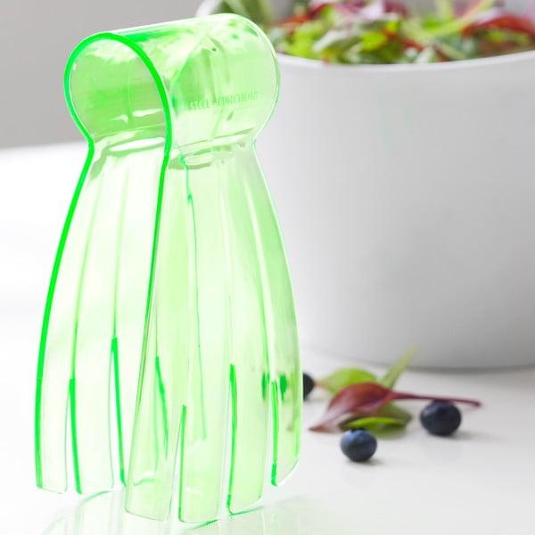 Zelené salátové kleště Salad Steel Function Hand