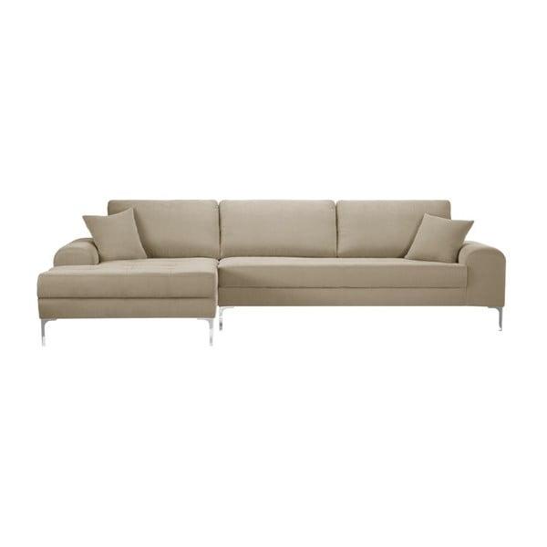 Set canapea gri-bej cu șezut pe partea stângă, 4 scaune albastre, o saltea 160 x 200 cm Home Essentials
