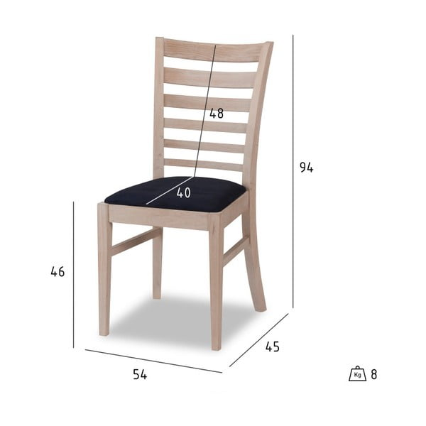 Set 2 scaune din lemn Furnhouse Jannie