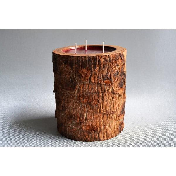 Palmová svíčka Legno s vůní exotického ovoce, 140 hodin hoření