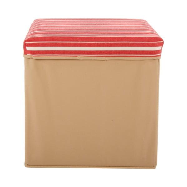Velká úložná krabice Puff Beige, 38x38 cm