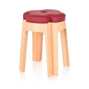 Židle Bloom s červeným sedátkem