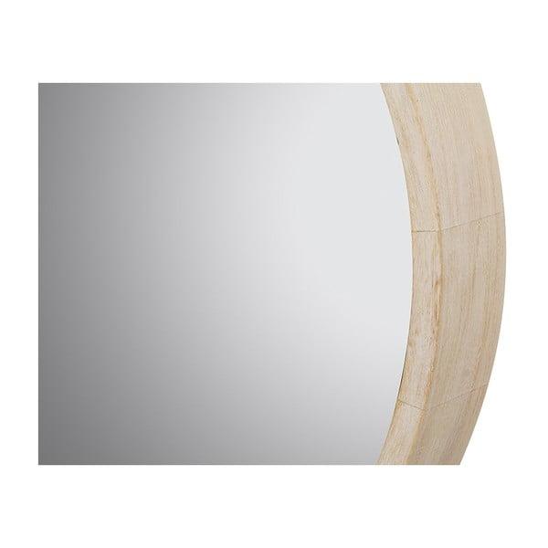 Nástěnné zrcadlo s rámem z borovicového dřeva SantiagoPons Trya, ⌀62cm