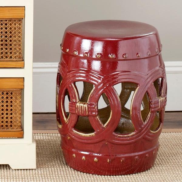 Keramický stolek Ibiza Red