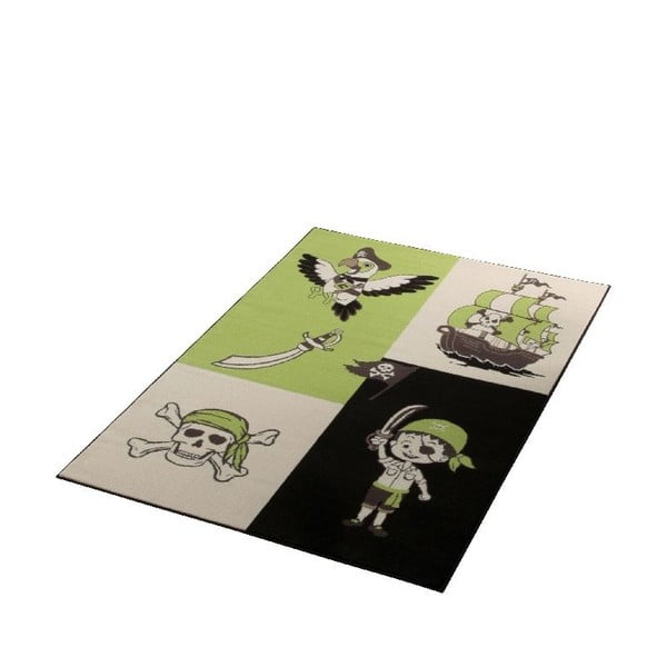 Dětský zelený koberec Hanse Home Pirát, 140x200 cm