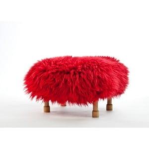 Stolička z ovčí kůže Dilys Dragon Red