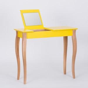 Masă de toaletă cu oglindă Ragaba Dressing Table, lungime 85 cm, galben