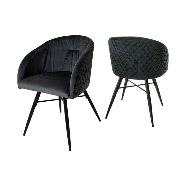 Antracitově šedá židle Canett Mingo