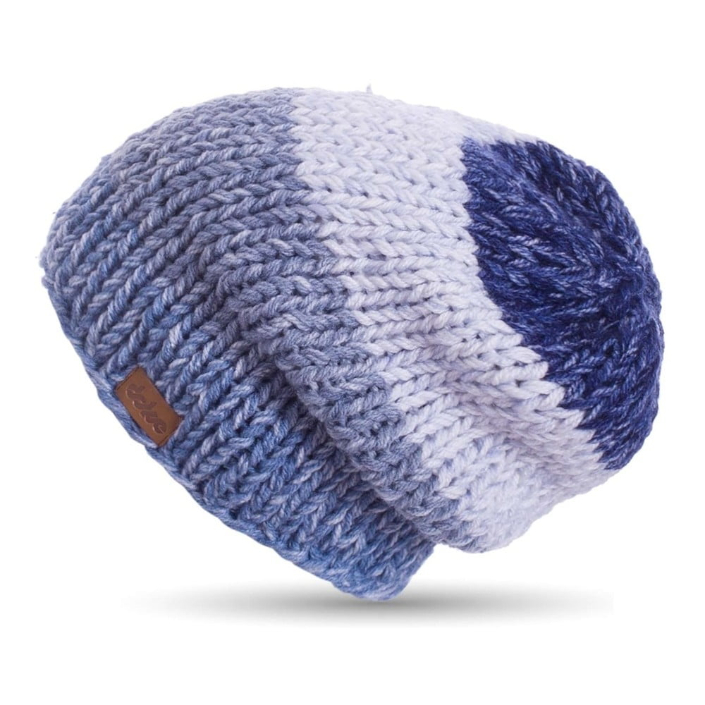 Modrá ručně háčkovaná čepice DOKE Denim