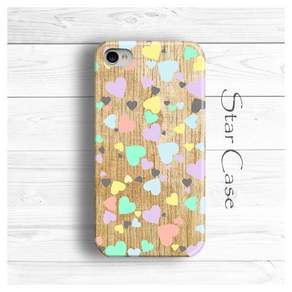 Obal na iPhone 4/4S Colour Hearts