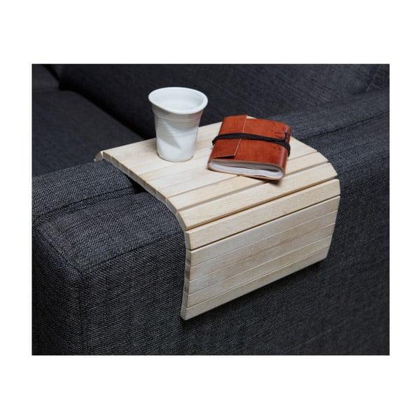 Biela drevená podrúčka na pohovku WOOOD Trayer