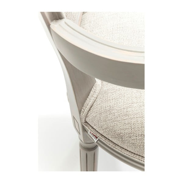 Šedá jídelní židle s nožičkami z bukového dřeva Kare Design Louis