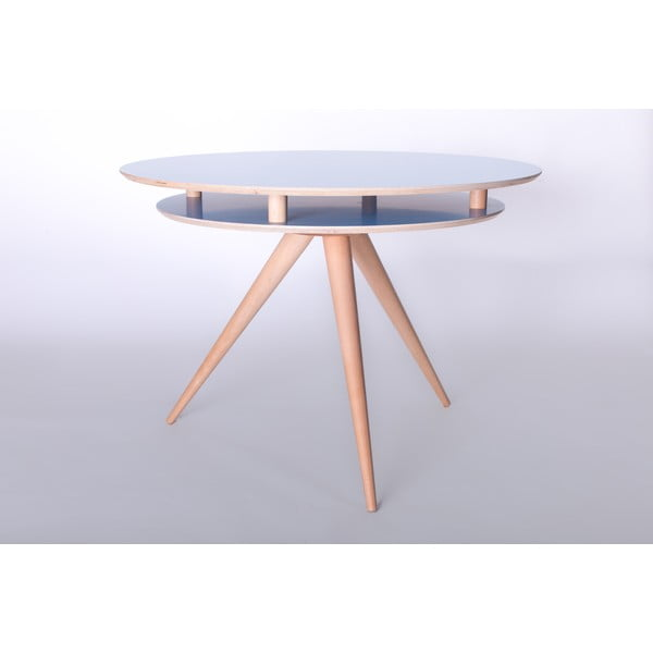 Modrý jídelní stůl Ragaba Triad