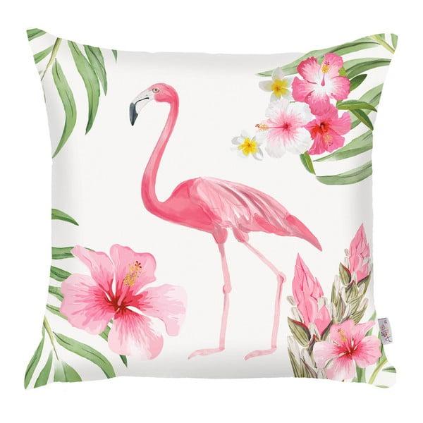 Różowa poszewka na poduszkę Apolena Flamingo, 43x43 cm