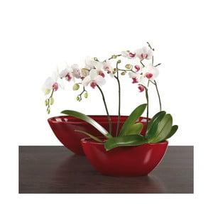Oválny květináč 30 cm, červený