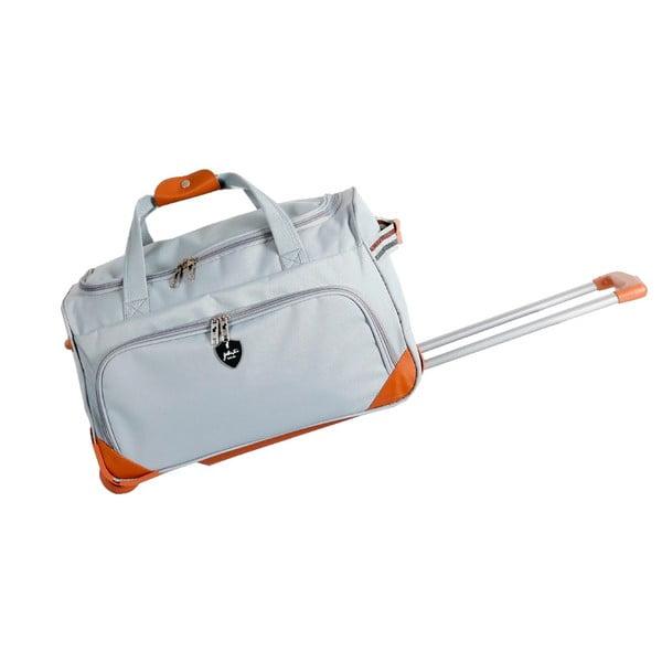 Svetlosivá cestovná taška na kolieskach GENTLEMAN FARMER Sporty, 61 l