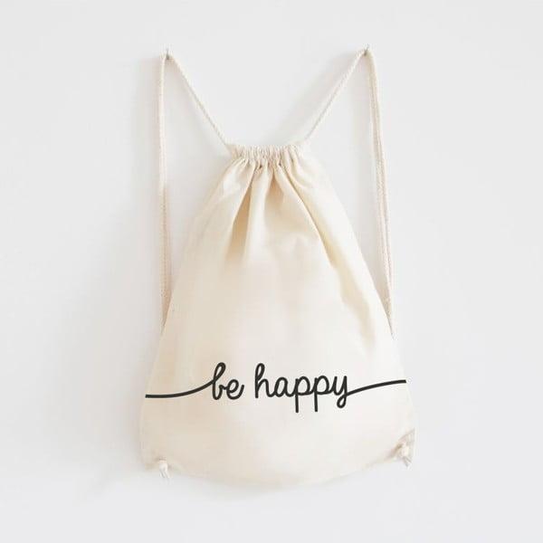Plátěný batoh Be Happy
