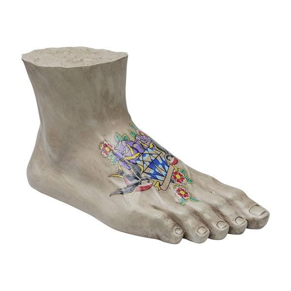 Decorațiune Kare Design Tattoo Foot, lungime 51 cm