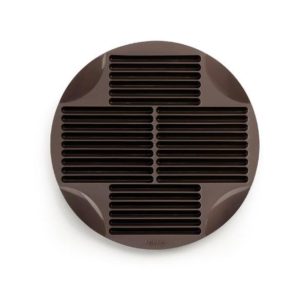 Hnědá silikonová forma na tyčinky Lékué Sticks, ⌀ 25 cm
