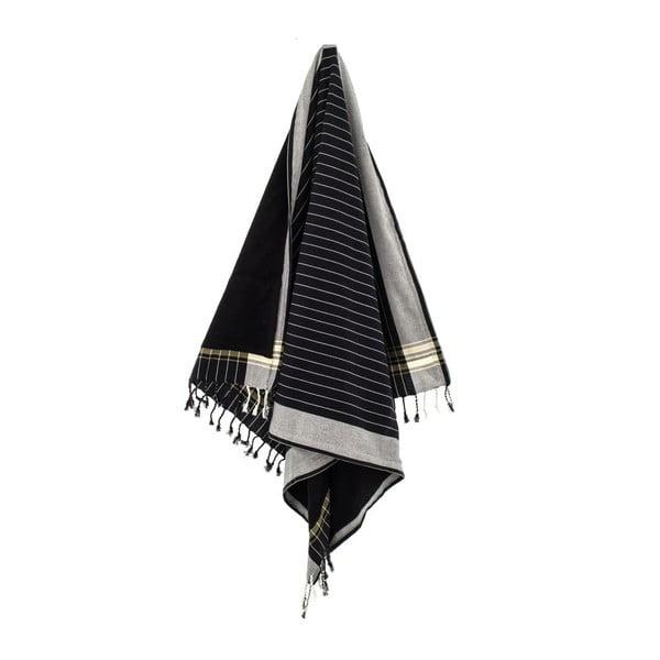 Ručník Muge Black, 100x178 cm