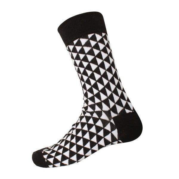 Ponožky Retro Black/White, velikost 40-44