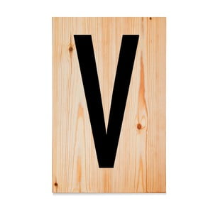 Dřevěná cedule Letters V