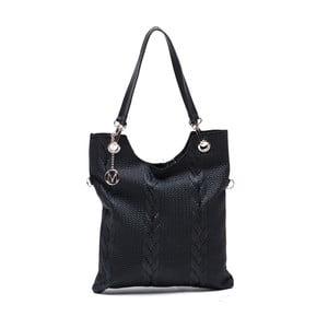 Kožená kabelka Catalina, černá