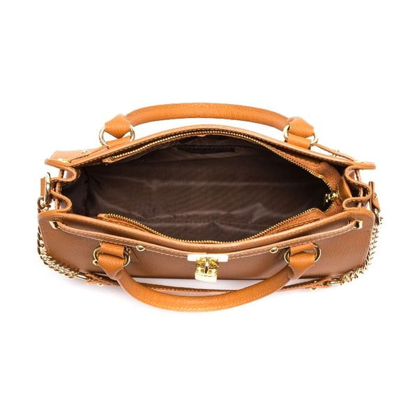 Kožená kabelka Roberta M 199 Cognac