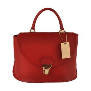 Červená kožená kabelka Matilde Costa Olivos