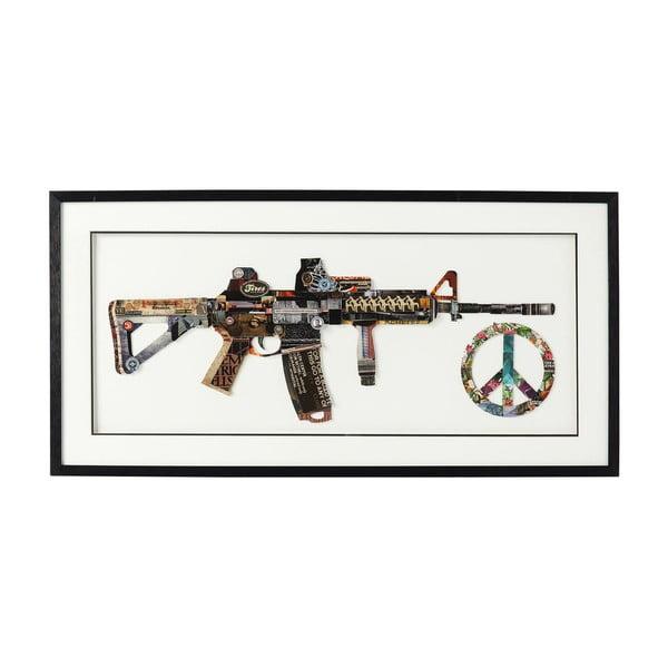 Obraz v rámu Kare Design Art Peace No War, 100 x 50 cm