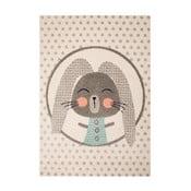 Covor cu detalii gri pentru copii Zala Living Bunny, 120 x 170 cm, bej