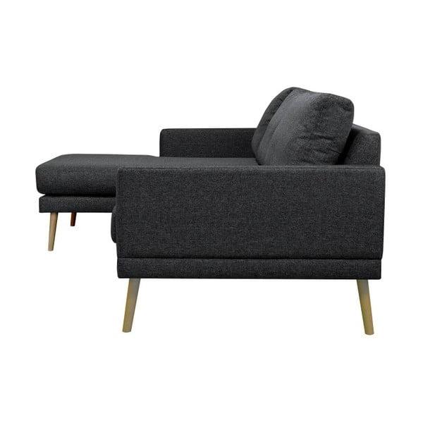 Černá rohová pohovka Windsor & Co Sofas, levý roh