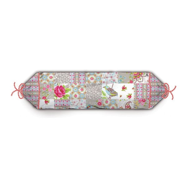 Polštář Chinese Blossom Patch Khaki, 70x22 cm