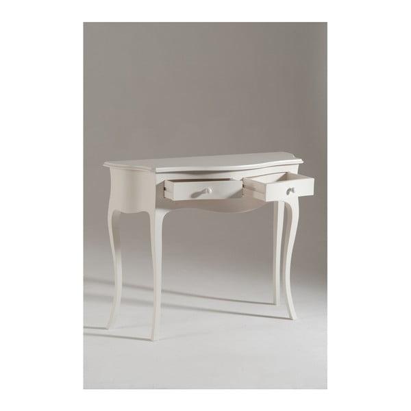 Bílý dřevěný konzolový stolek Castagnetti Venezia