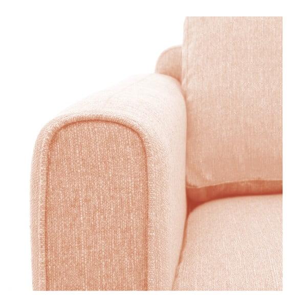 Růžová rohová pohovka s lenoškou na pravé straně Vivonita Milton
