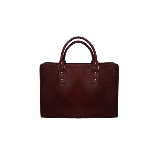 Kožená kabelka Grechetto, čokoládová