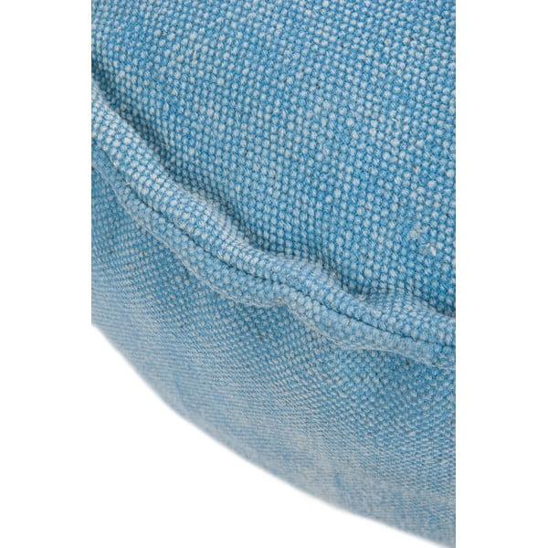 Sedací puf Cotton Blue, 60x30 cm