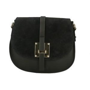 Černá kožená kabelka Roberto Buono Giulietta