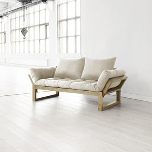 Sofa Karup Edge, honey/přírodní s polštáři 55x50x20 cm