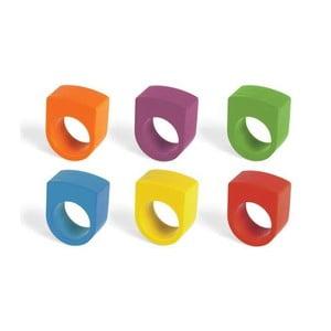 Sada pastelek na prsty Round Crayon Rings
