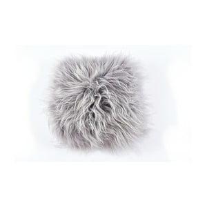Pernă din blană cu fir lung Grey, 35x35 cm
