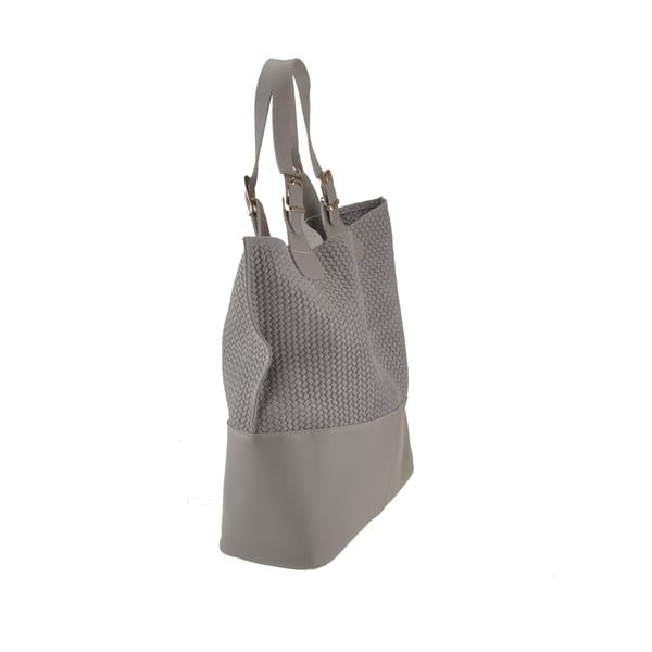 Kožená kabelka Hamal, šedá