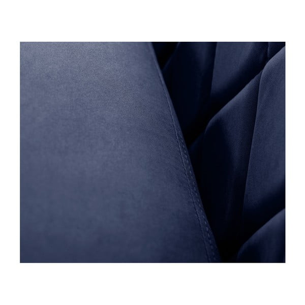 Canapea pentru 2 persoane Scandi by Stella Cadente Maison Diva, albastru închis