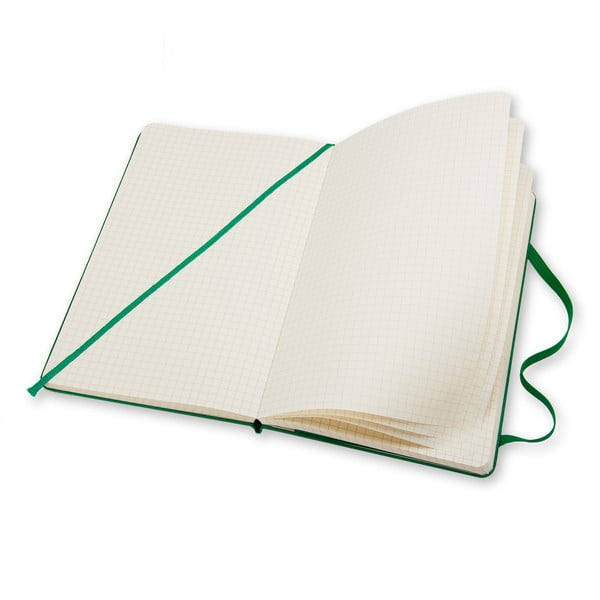 Malý zelený zápisník Moleskine Hard, čtverečkovaný